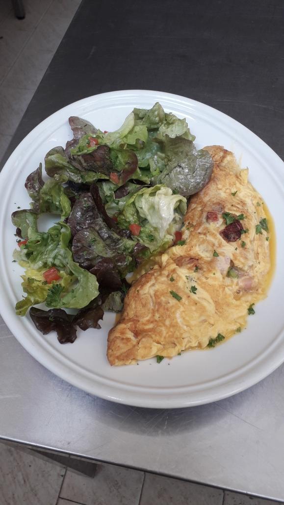 omelette lard et gruyère